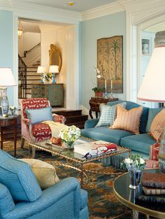 25 Awesome Couches for Your Living Room ...   Light blue sofa ...