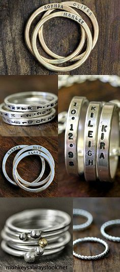 Rings of my babies names