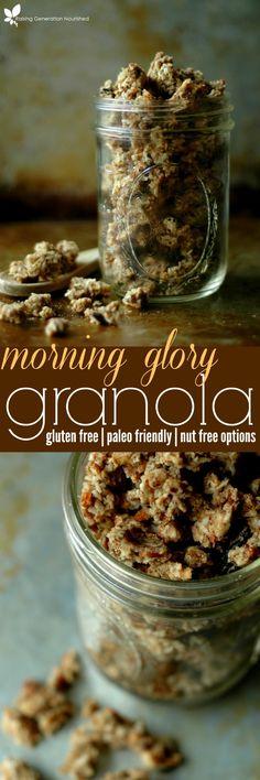 Gluten Free Morning Glory Granola :: Paleo Friendly & Refined Sugar Free!