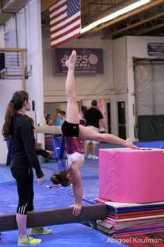 Great way to get a vertical handstand on the beam