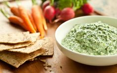 Lemon, Kale, Cottage Cheese Dip with onion and garlic