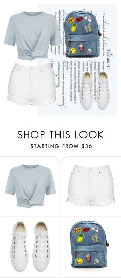 """""""🍍💋 🌈"""" by jasmine077 ❤ liked on Polyvore featuring T By Alexander Wang, Topshop and Converse"""
