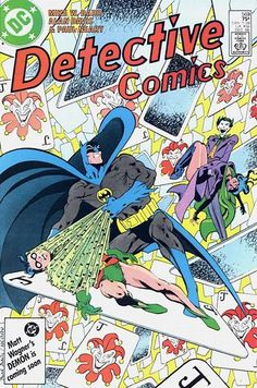 Cover for Detective Comics (1937 series) #569 [Newsstand], Alan Davis, Mike Barr, Robin bound, helpless
