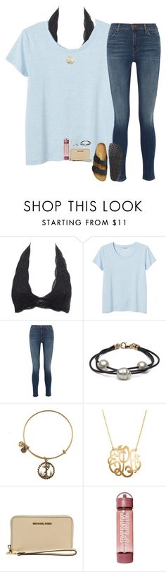 """i wanna love you with the lights on keep you up all night looong"" by hailstails ❤ liked on Polyvore featuring Charlotte Russe, Monki, J Brand, Jane Basch, MICHAEL Michael Kors and Birkenstock"