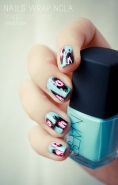 (nail art tissus) // IkaT !