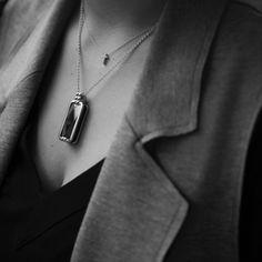 Altruis Cleopatra Halskette Silver/Black von Vinaya.
