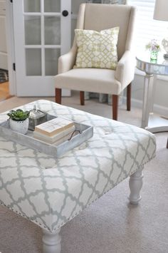 diy ottoman-looks pretty easy! I'm going to pick out fabric ASAP! And find a garage sale! :)
