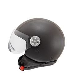 Open face helmet with visor according to stand., hand covered in water repellent leather Ski Helmets, Riding Helmets, Open Face Helmets, Bicycle Helmet, My Style, Sport, Leather, Deporte, Excercise