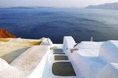 Greece Santorini Oia Staircase Caldera