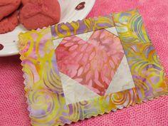 Try Foundation Paper Piecing with Valentine Fabric Postcards | Nancy Zieman Blog