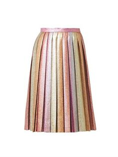 Dégradé Lurex pleated skirt | Marco De Vincenzo | MATCHESFASHI...