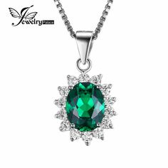 Item Type: Pendants Fine or Fashion: Fine Main Stone: Emerald Style: Classic Brand Name: JewelryPalace Side Stone: Other Artificial material Pendants Type: Solitaire Certificate Type: Third Party Appr