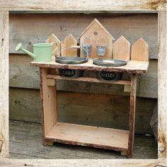 Mud kitchen - huisjes