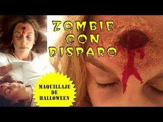 Maquillaje para Halloween: disparo. Maquillaje de zombie - YouTube