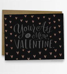 Your Ass Is Mine Valentine Card 226-C door emilymcdowelldraws