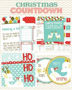ADORABLE Christmas Printables Giveaway! SO DARN CUTE!