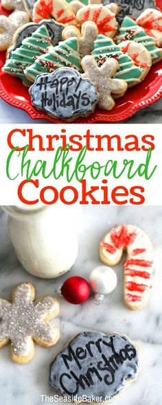 Christmas Cookies that allow you to add a personal message!  Easy and Fun to make and decorate |  #sugarcookie #ChristmasCookies #foolproof  #Christmas #cookie | TheSeasideBaker.com