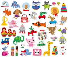 toys  By Stella Baggott - Shrinky Dink inspiration