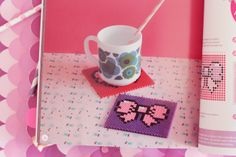 mon swwet home girly by Poulette Magique Polaroid Vintage, Sweet Home, Girly, Hama Beads, Arts And Crafts, Boutique, Tableware, Diys, Lifestyle