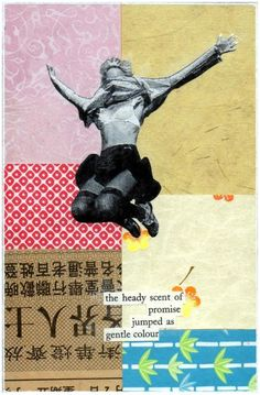 ARTFINDER: Promise by Simon Kirk - In my work I combine painting, collage and decollage (cutting or sanding away the built up surface to reveal layers below). This piece is a good example of h...