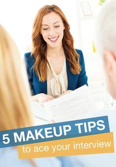Hair & Makeup Tips for Acing Your Next Job Interview - Daily Makeover Job Interview Makeup, Interview Attire, Hair And Makeup Tips, Hair Makeup, Eye Makeup, Makeup Jobs, Dress For Success, Working Woman, Professional Hairstyles