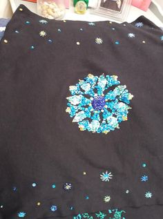 cotton jersey poncho hand embroidered Cotton, Projects, Tile Projects