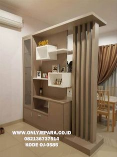 Wooden door interior furniture Best Ideas - Lilly is Love Room Partition Wall, Living Room Partition Design, Living Room Divider, Living Room Tv Unit Designs, Room Partition Designs, Room Door Design, Home Room Design, Home Interior Design, Wall Design
