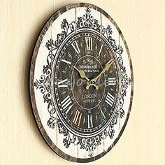 Large Wall Clock Tracery Vintage Rustic Shabby Chic Home Office Cafe Decor Art #Cafe #Chic #Clock #Décor #Home #Large #Office #Rustic #RusticWallClock #Shabby #Tracery #Vintage #Wall The Rustic Clock