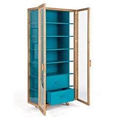 case furniture vitrina tall cabinet blue hierve 002