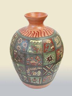 ancient peruvian pottery | Pottery & Ceramics - A Guide to Peruvian Handicrafts and Souvenirs ... Ancient Peruvian, Peruvian Art, Pottery Vase, Ceramic Pottery, Ceramic Art, South American Art, Spanish Art, Native American Pottery, Pottery Marks