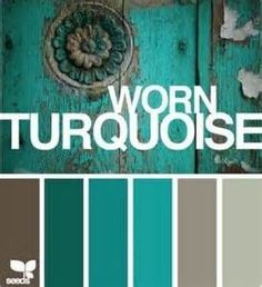 Design Seeds. Worn Turquoise. Shades of Turquoise, Aqua with Greige ...