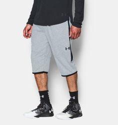 """Under Armour Mens Fleece 16"""" Pursuit 1/2 Pants Shorts Gray Black 2XL 1281293-025 #Underarmour #Shorts"""