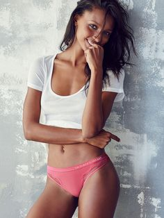 All smiles, obvi! And it's all thanks to this comfy & cute thong.  | Victoria's Secret Seamless Little Thong Panty