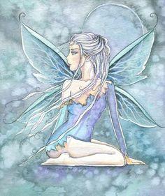 Art 'Jaden' - by Molly Harrison from Gallery Amy Brown Fairies, Elves And Fairies, Spring Fairy, Fairy Paintings, Unicorns And Mermaids, Fairy Pictures, Mythical Creatures Art, Fairytale Art, Fairy Art
