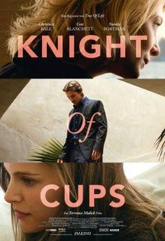 Knight of Cups 2015 - Knight of Cups suit la quête de Rick, un scénariste en vogue, entre Los Angeles et Las Vegas. Au milieu de décors urbains grandioses, il cherche à briser le sort qui l'a plongé dans une mélancolie profonde. Sur sa route, des femmes telles des muses l'aideront à leur façon à trouver sa voie.