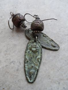 Victorian Rose ... Ceramic Pewter and Sterling by juliethelen #handmade #etsy #jewelry