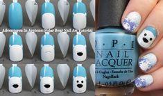 Tutorial Tuesday: Polar Bear Nail Art! (via Bloglovin.com )