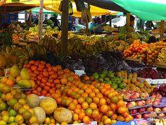 Market in Ecuador. One of the many sights UBELONGers enjoy.