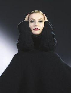 Isabelle Huppert looking like Garbo.