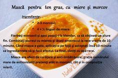 Mască pentru ten gras, cu miere şi morcov