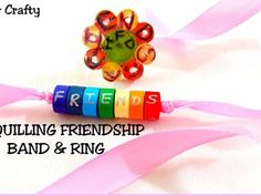 How to make friendship ring & band glue Rings Friendship Band for friendship day. we all know friendship day is around the . So why not give a surprise to your friend with easy,unique & personalizes hot glue ring & Quilling Mothers Day Rings, Diy Mothers Day Gifts, Gifts For Kids, Friendship Day Bands, Metal Jewelry, Custom Jewelry, Quilling Rakhi, Kids Rings, Pineapple Pattern