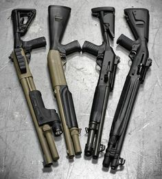 Mmm.. Scattergun love. Pick one.  Via @metalhead_1  Now THIS is what I call shotgun love. From left to right @wilsoncombat 12ga Scattergun @benelli_usa M1 Super 90 @benelliofficial