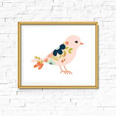 Thank you for checking out this listing from Cloud Nine Print Studio. This printable Tribal Bird Bohemian Baby Nursery Print is perfect for your child's bedroom or nursery. Pink and Navy Bird Print. I have several other matching prints for a mix and match nursery gallery wall.