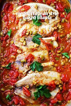 Mediterranean Style Baked Tilapia + How Do You O-live $5000 Sweepstakes! | Diethood | Diethood | Bloglovin'