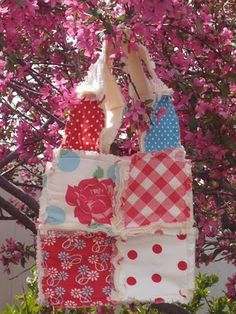 Rag Tote Bag Tutorial- i want to make this!