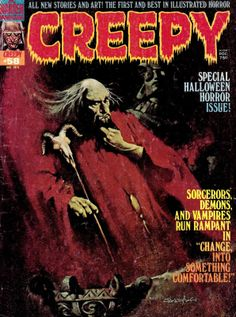 CREEPY | pulp terror comics magazine cover art