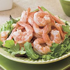 Spicy Boiled Shrimp With Creamy Buttermilk-Avocado Sauce | MyRecipes.com