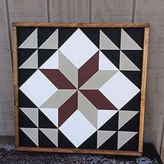 Meadow Star Barn Quilt This is a 25 x 25 Wood Hand Painted Sign. This is a Barn Quilt Block of the Meadow Star. Barn Quilt Designs, Barn Quilt Patterns, Quilting Designs, Quilting Patterns, Amish Barns, Painted Barn Quilts, Barn Signs, Barn Art, Pintura Country
