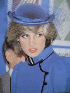 February 25, 1983: Princess Diana visiting the Brookfields School in Tilehurst, West Berkshire.