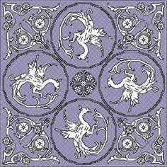"Central part of the design ""dragon cloth"" - free design"